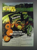 1981 Land O Lakes Butter Ad - Asparagus to Zucchini