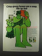 1981 Green Giant Green Beans Ad - Are A Snap