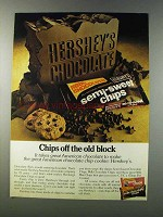 1981 Hershey's Semi-sweet chips Ad - Off the Old Block