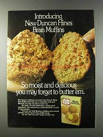 1981 Duncan Hines Bran muffin mix Ad