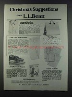 1981 L.L. Bean Ad - Chamois Cloth Shirt, Chino Pants