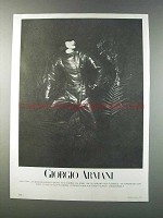 1981 Giorgio Armani Women's Fashion Advertisement
