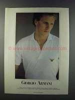 1981 Giorgio Armani Fashion Advertisement