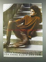1981 Donna Karan L. Dell'Olio for Anne Klein Fashion Advertisement