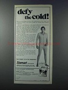 1981 Damart Thermawear Ad - Defy The Cold!