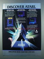 1981 Atari 400 and 800 computers Ad - Discover