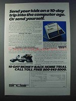 1981 Sinclair ZX80 Ad - Send Kids Into the Computer Age
