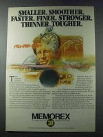 1981 Memorex Corporation Ad - Smaller Smoother Faster