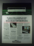 1981 RCA Selectavision 650 VCR Ad - No Other