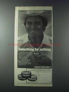 1981 Skoal Tobacco Ad - Walt Garrison - For Nothing
