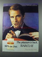 1981 Barclay Cigarettes Ad - The Pleasure