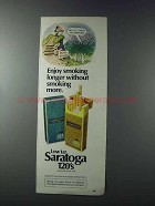 1981 Saratoga 120's Cigarettes Ad - Enjoy Smoking