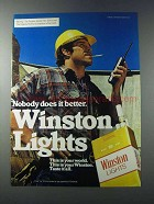 1981 Winston Lights Cigarettes Ad - Nobody Does Better