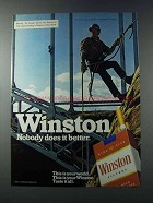 1981 Winston Cigarettes Ad - Nobody Does It Better