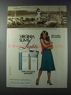 1981 Virginia Slims Lights Cigarettes Ad - Stock Market