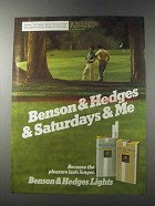 1981 Benson & Hedges Lights Cigarettes Ad - Saturdays