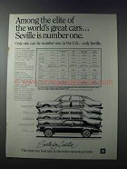 1981 Cadillac Seville Ad - Among the Elite of Cars