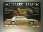 1981 Mercury Marquis Ad - Preferred Seating