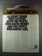 1981 BMW 733i Car Ad - Satisfies Both the People