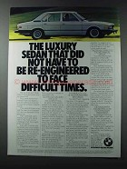 1981 BMW 528i Car Ad - Not Re-Engineered