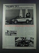 1981 Triumph TR7 Ad - Doesn't Create an Image