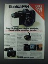 1981 Konica FS-1 Camera Ad - Built-in Autowinder