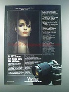 1981 Vivitar 75-205mm Lens Ad - Art Kane Saw