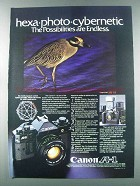 1981 Canon A-1 Camera Ad - Hexa-Photo-Cybernetic