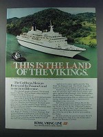 1981 Royal Viking Line Ad - This is the Land of Vikings