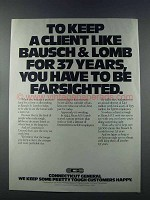1981 Connecticut General Ad - Client Bausch & Lomb