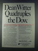 1981 Dean Witter Reynolds Ad - Quadruples the Dow