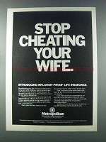 1981 Metropolitan Life Insurance Ad - Cheating Wife