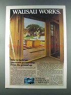 1981 Wausau Insurance Ad - Insurance Partnership