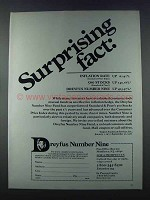 1981 Dreyfus Number Nine Ad - Surprising Fact