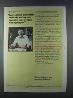 1981 American Insurance Association Ad - Rates Went Up
