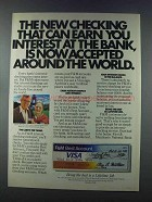 1981 F&M VISA Card Ad - Checking Can Earn Interest