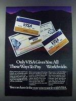 1981 VISA Credit Card Ad - All These Ways To Pay
