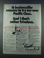 1981 Air New Zealand Ad - 16 Businesslike Reasons