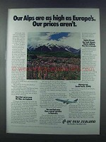 1981 Air New Zealand Ad - Our Alps Are As High
