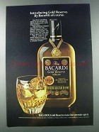 1981 Bacardi Gold Reserve Rum Ad - Of Course