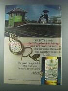 1981 Dewar's White Label Scotch Ad - Six Days a Week