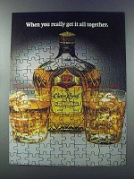 1981 Seagram's Crown Royal Whisky Ad - All Together
