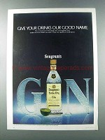 1981 Seagram's Extra Dry Gin Ad - Our Good Name