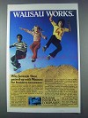1981 Wausau Insurance Ad - Juvenile Shoe Paired Up