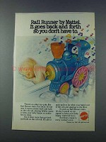 1981 Mattel Rail Runner Train Ad - Goes Back and Forth