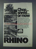 1981 Rhino Rotary Cutters Ad - Chop Shred or Mow