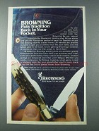 1981 Browning Pocket Knife Ad - Back in Your Pocket