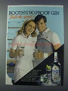 1981 Booth's Gin Ad - That's the Spirit