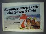 1981 Seagram's 7 Whiskey Ad - Summer Parties Stir