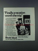 1981 Rhode Island Tourism Ad - Worth the Trip